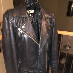 Women's Michael Kors leather motorcycle jacket